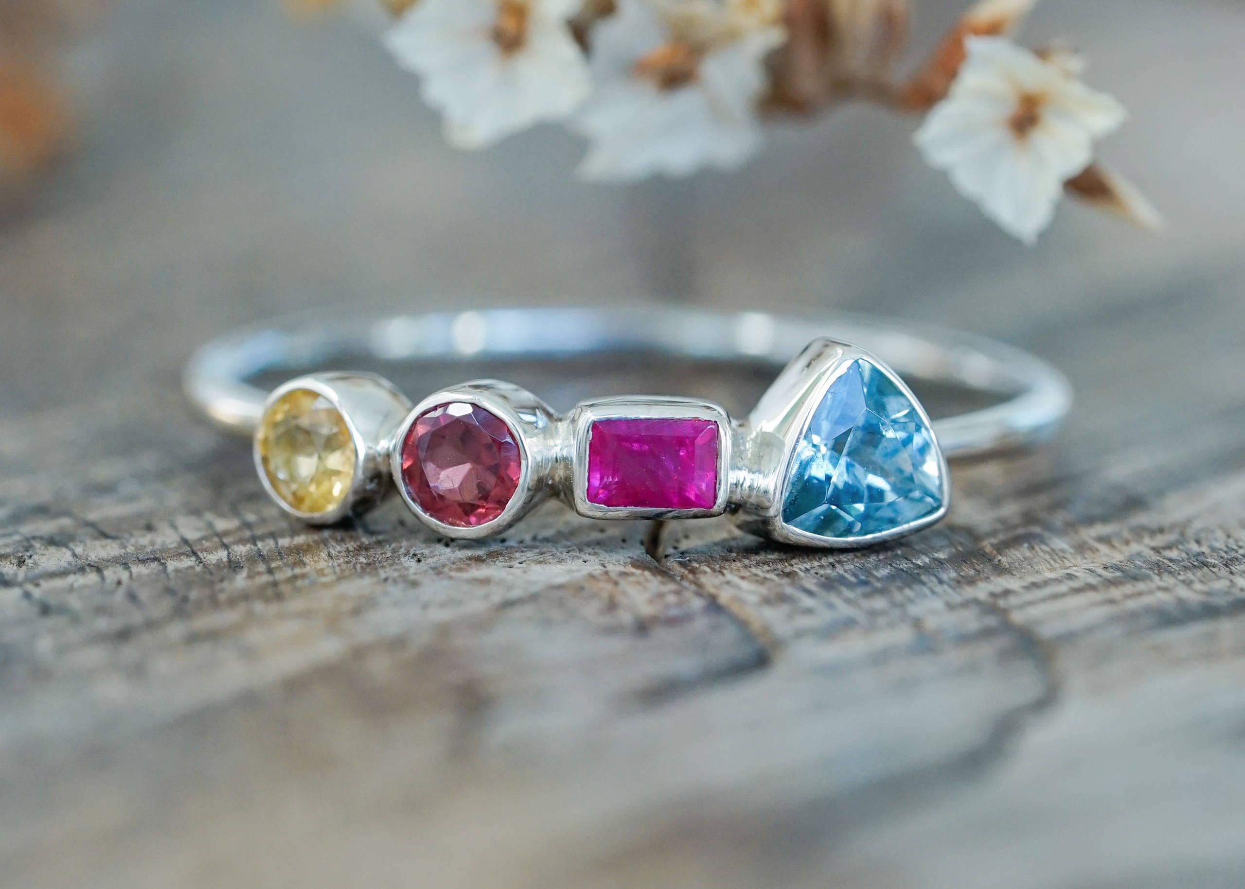 Custom Multi Birthstone Ring