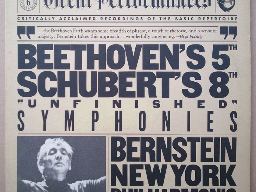 CBS | BERNSTEIN/SCHUBERT Unfinished - / BEETHOVEN Symphony No. 5 / EX
