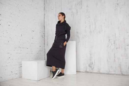 Костюм теплый юбка длинная и свитшот