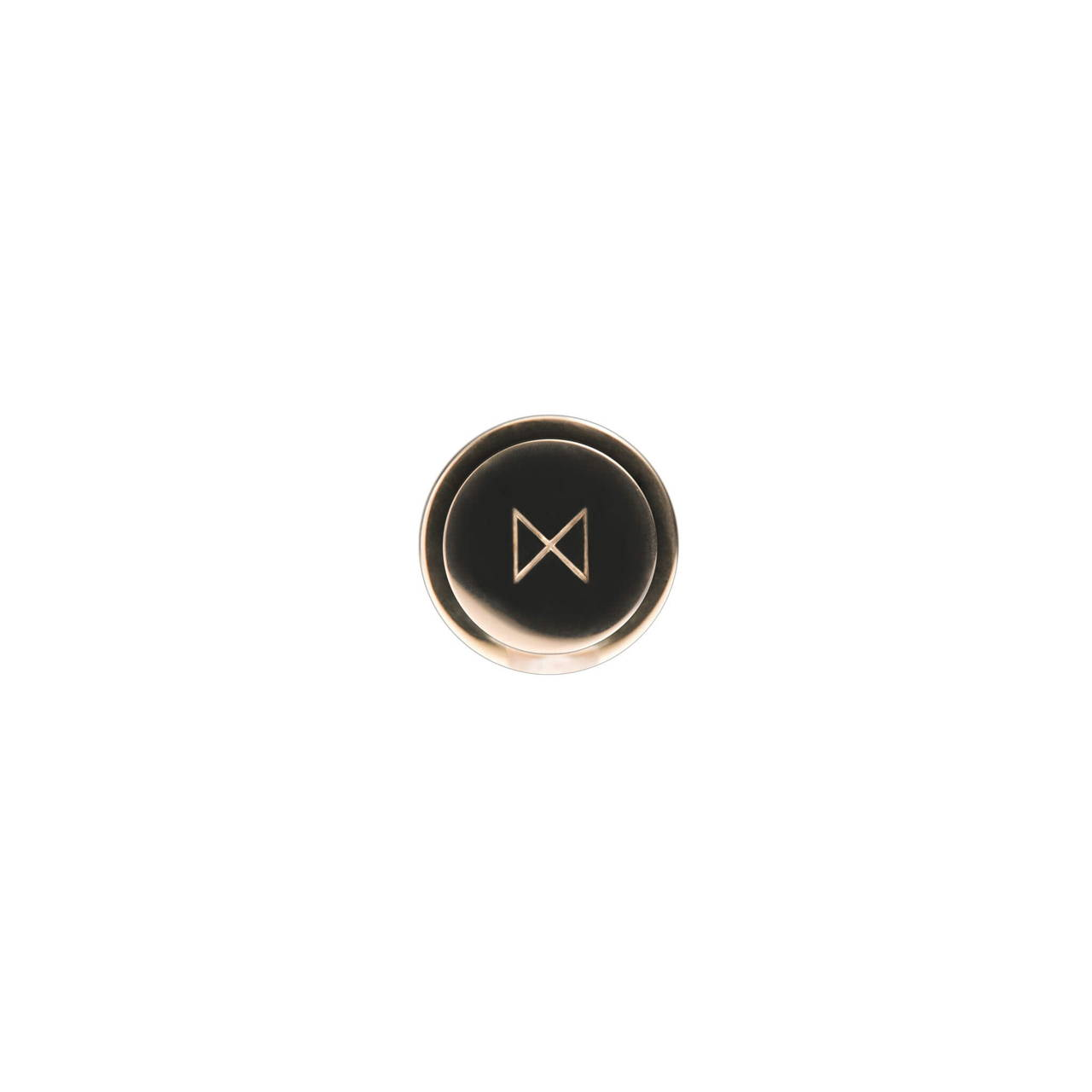 Rose Gold Cufflink bottom face with monogram