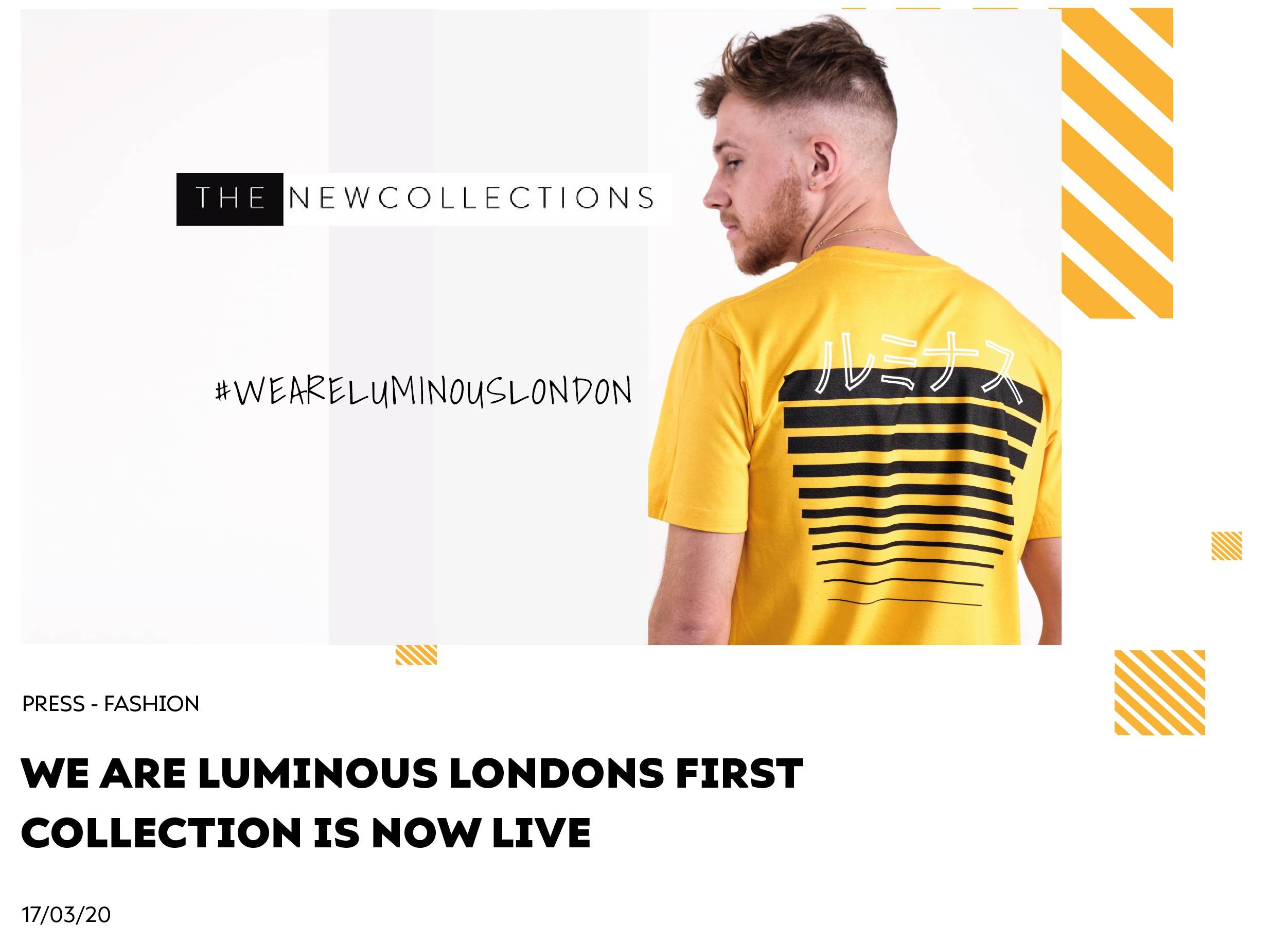 We Are Luminous Londons First Collection is Now Live