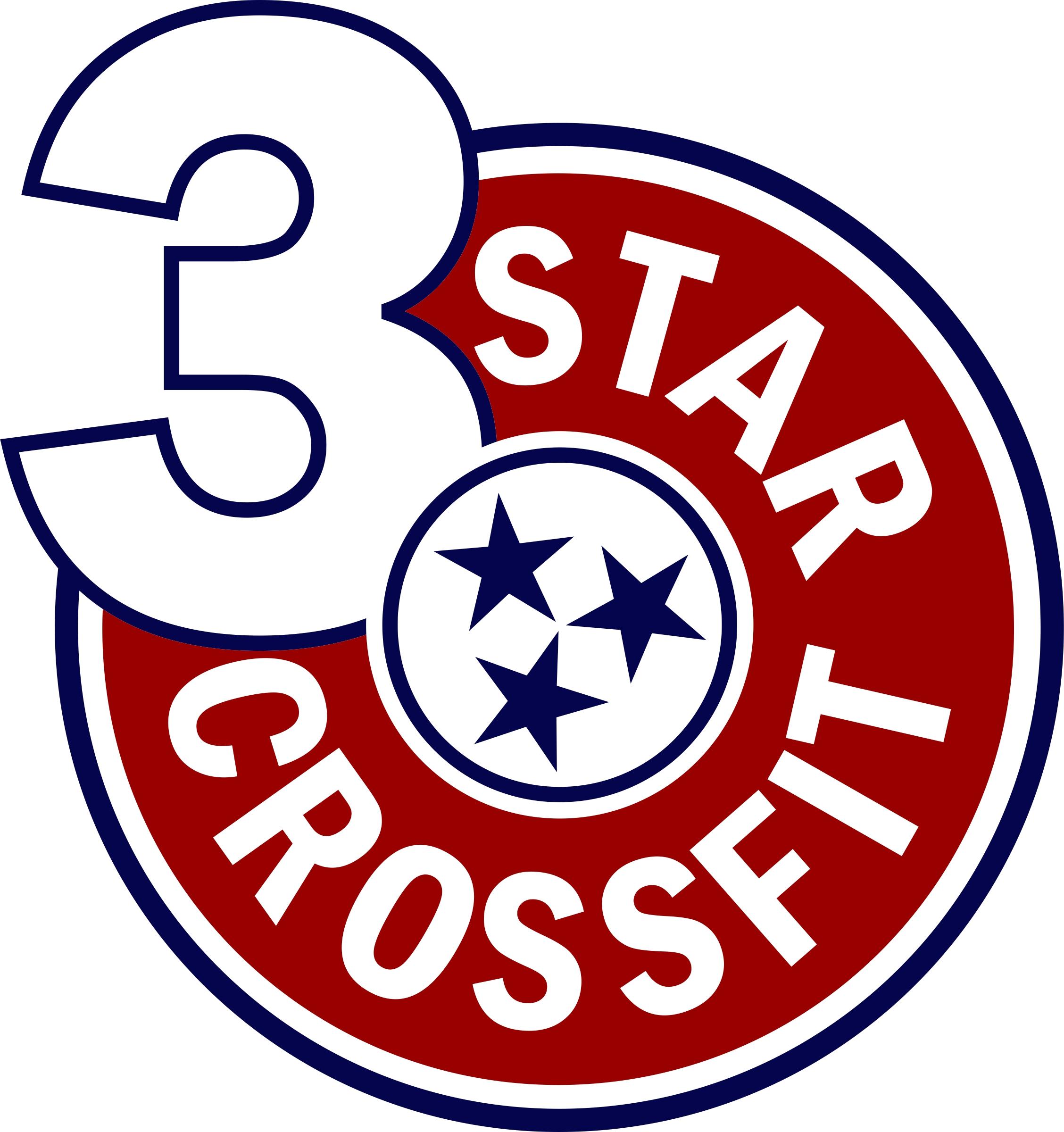 3 Star Crossfit logo
