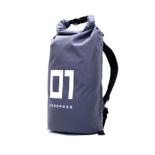 Вместительный рюкзак со светоотражающим принтом / Big gray RollTop Backpack