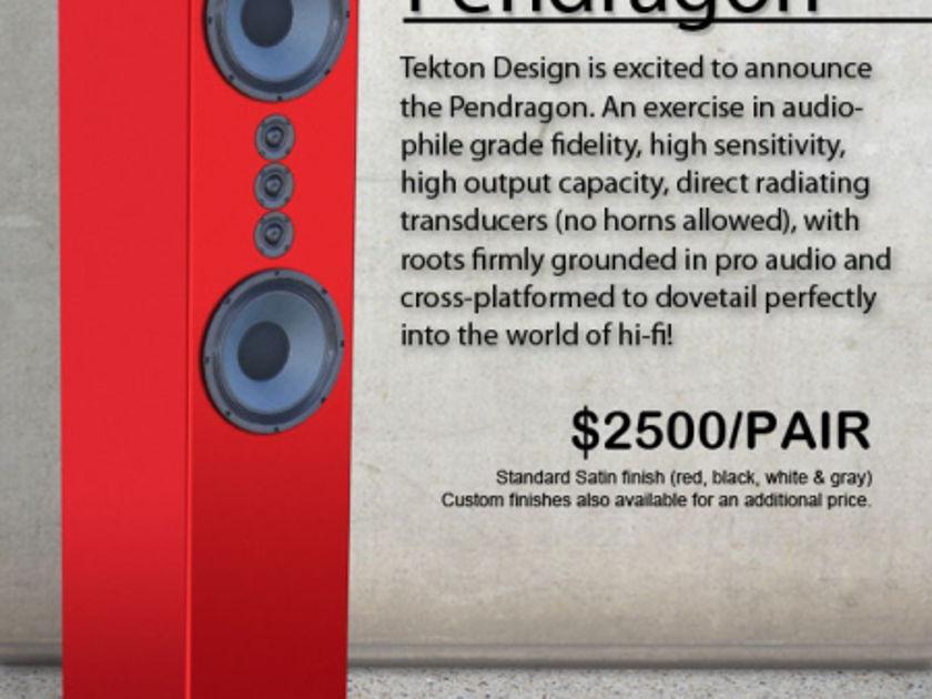Tekton Design  Pendragon Full-Range Loudspeaker - 10 year anniversary