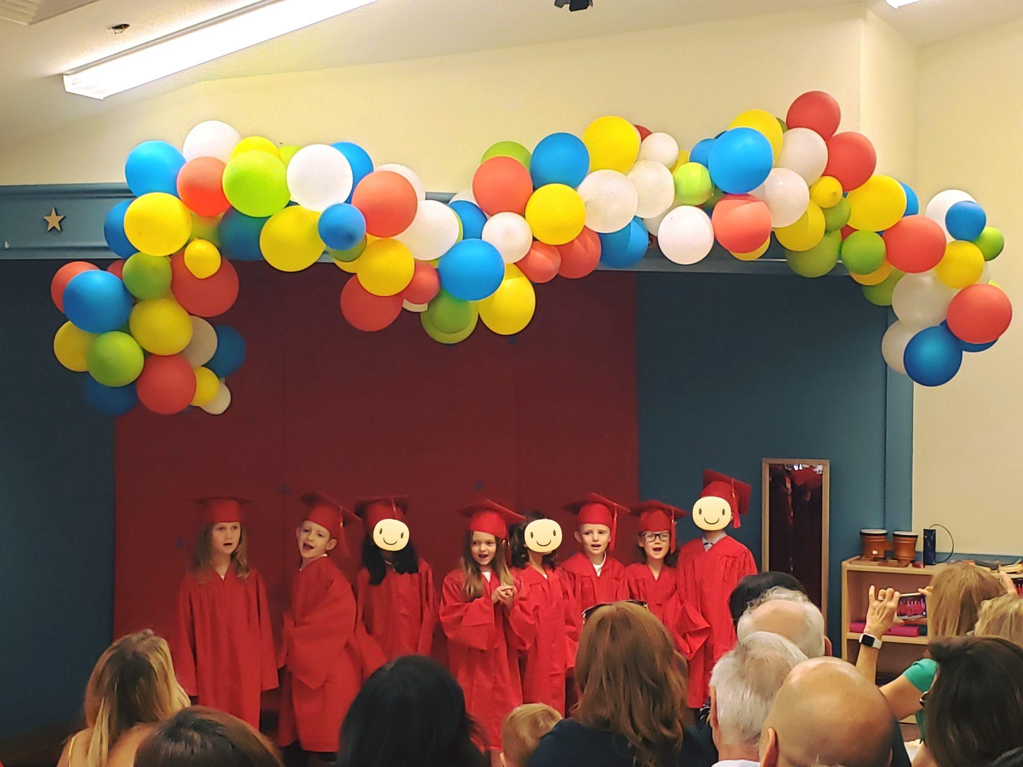 First Kindergarten Graduating Class