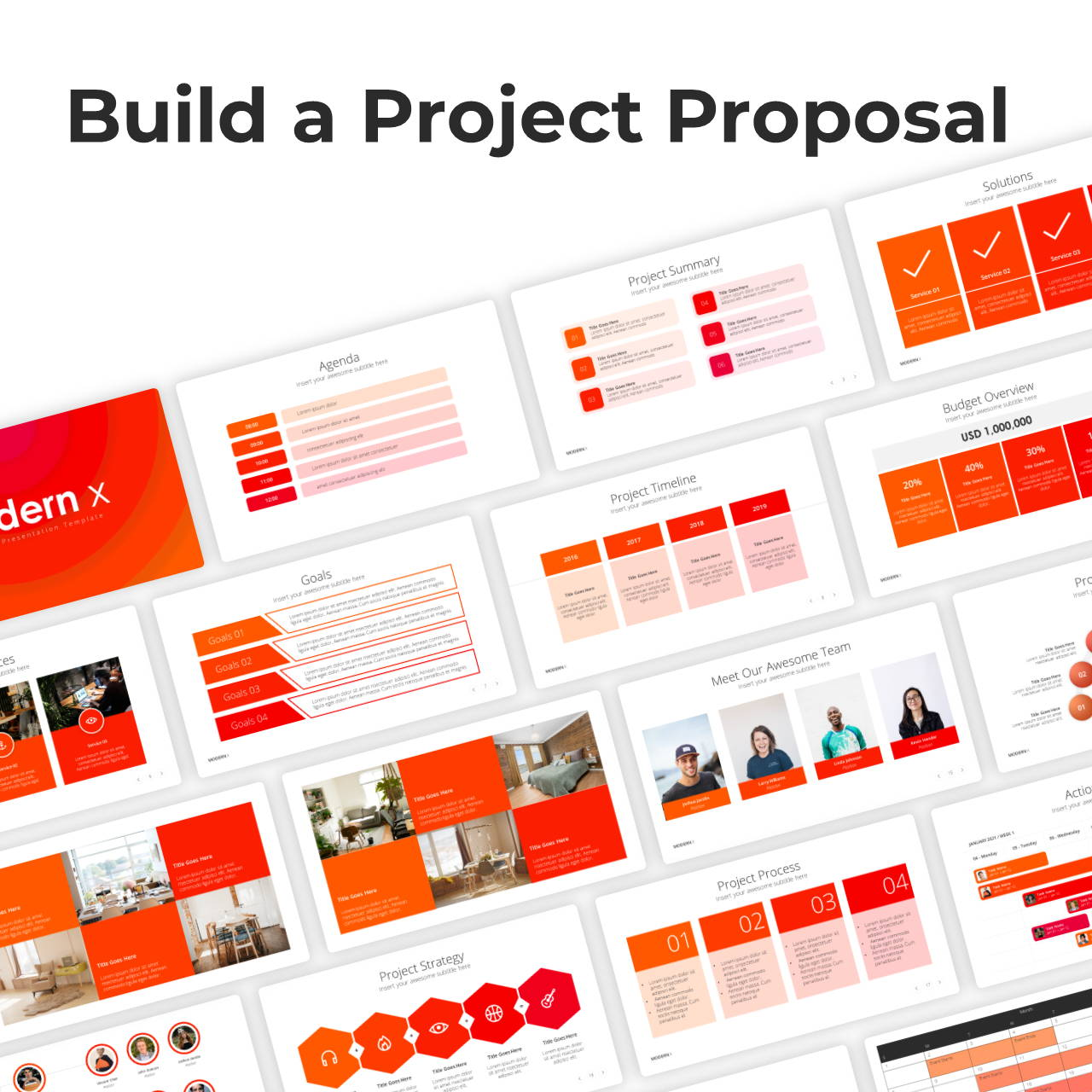 Modern X Project Proposal Presentation Template