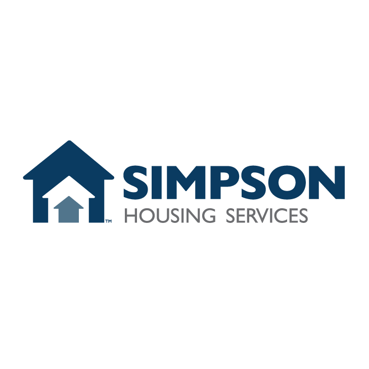 The logo for Simpson Housing Services. Our April 2018 Hero, Jerry, opted to give his financial grant to this nonprofit organization.