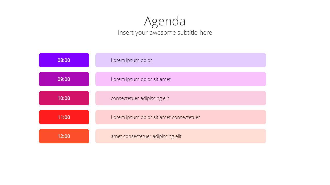 Modern X Social Media Report Presentation Template Agenda
