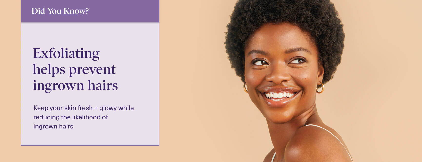 Women smiling with wax fact stating to only wax healthy skin