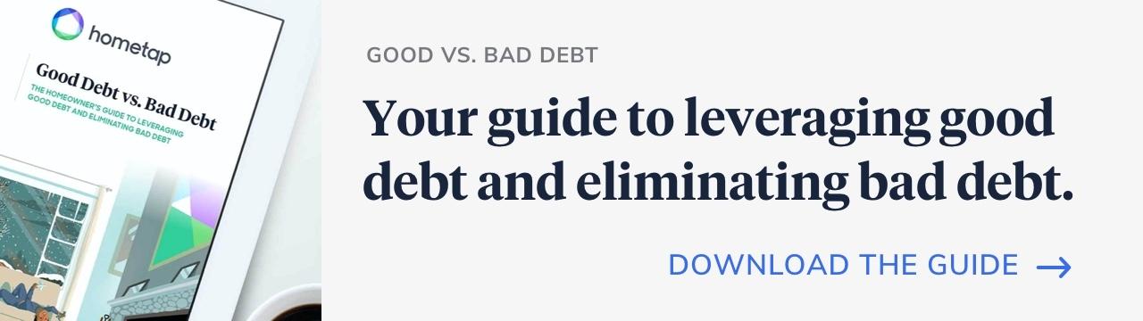 Download guide for comparing good vs. bad debt
