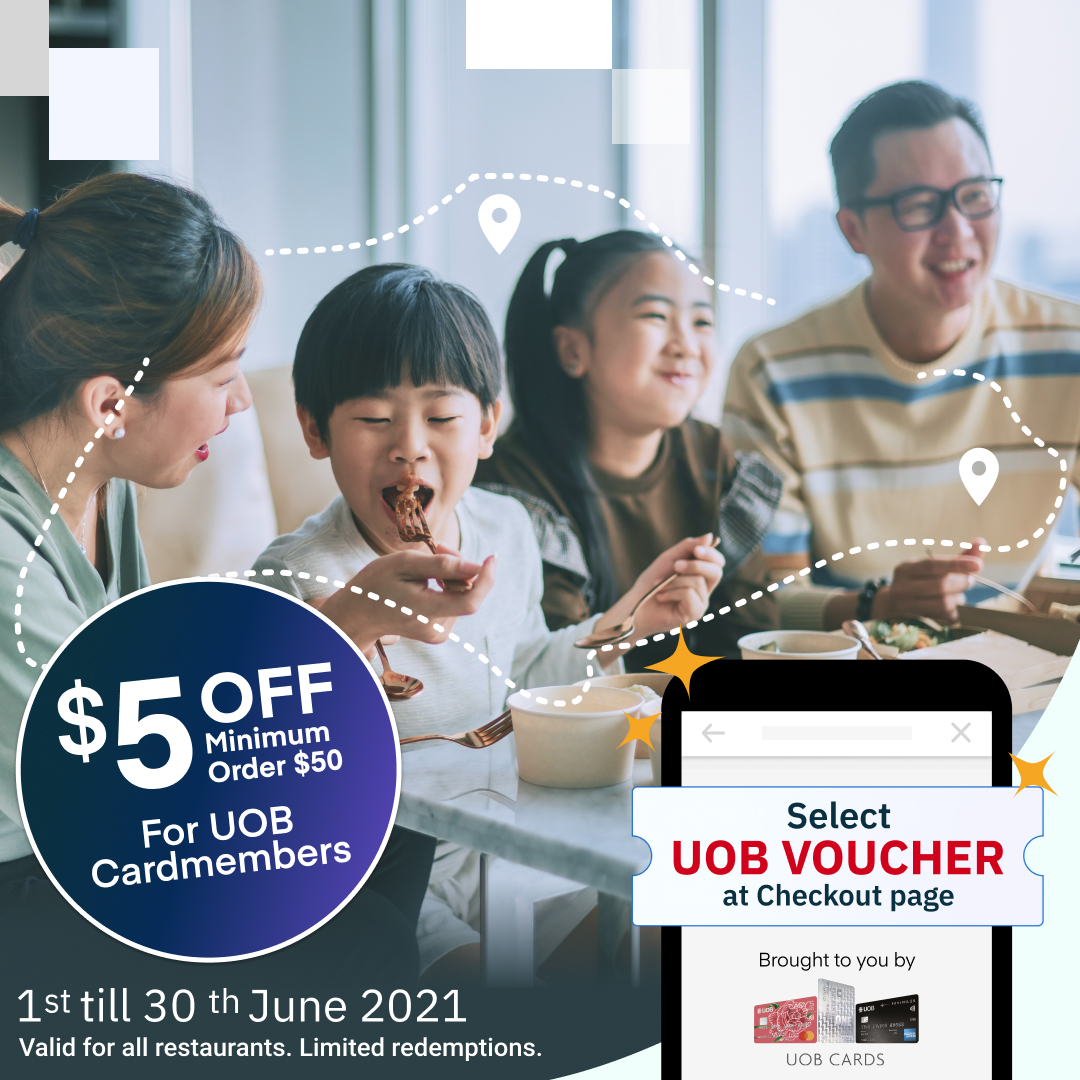 Pay with your UOB Card for $5 off!