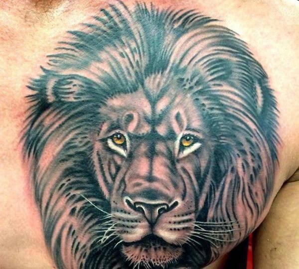 Tatouage Roi de la Jungle Yeux Jaune