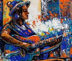 Artist Gurdish Pannu Paintings