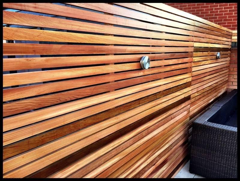 Cedar Slatted Panel