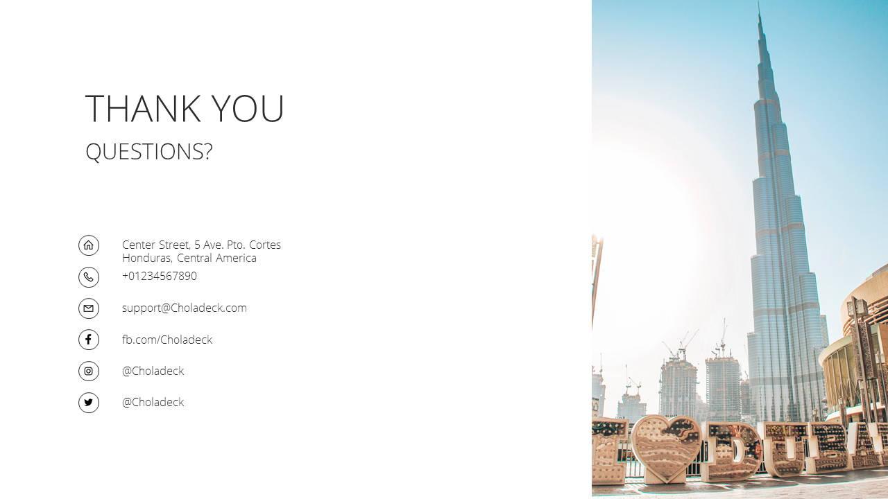 Modern X  Company Profile Presentation Template Thank You