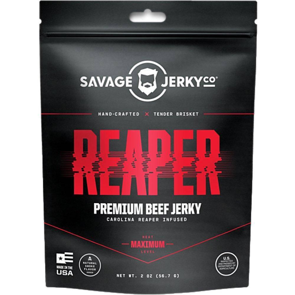 Savage Jerky Co Reaper Beef Jerky Carolina Reaper JerkyGent