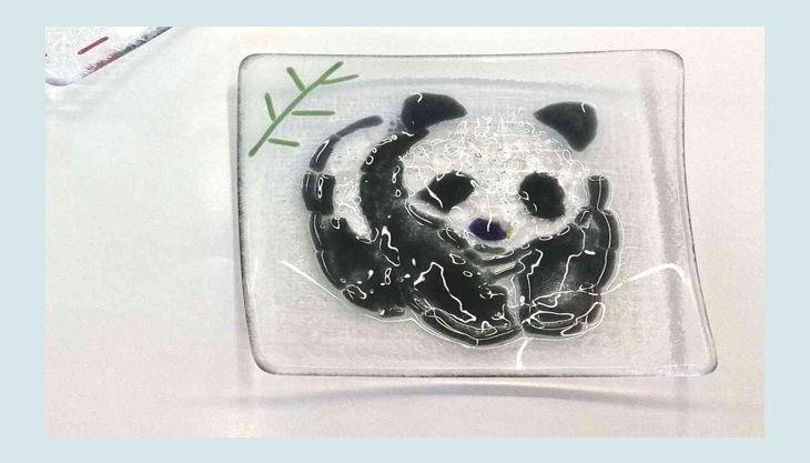 glas stadl panda und apfel