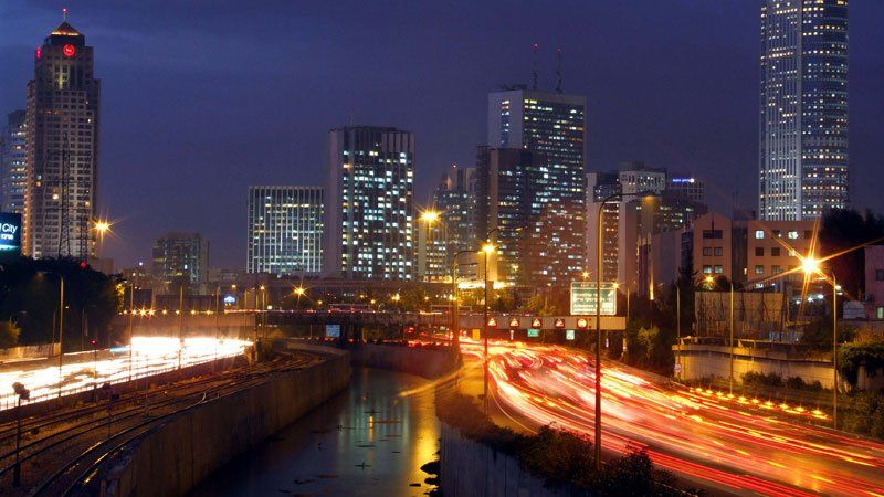Tel Aviv by night, Israel