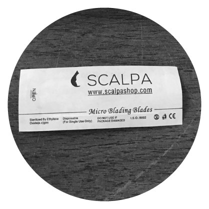 scalpa blades for microblading training
