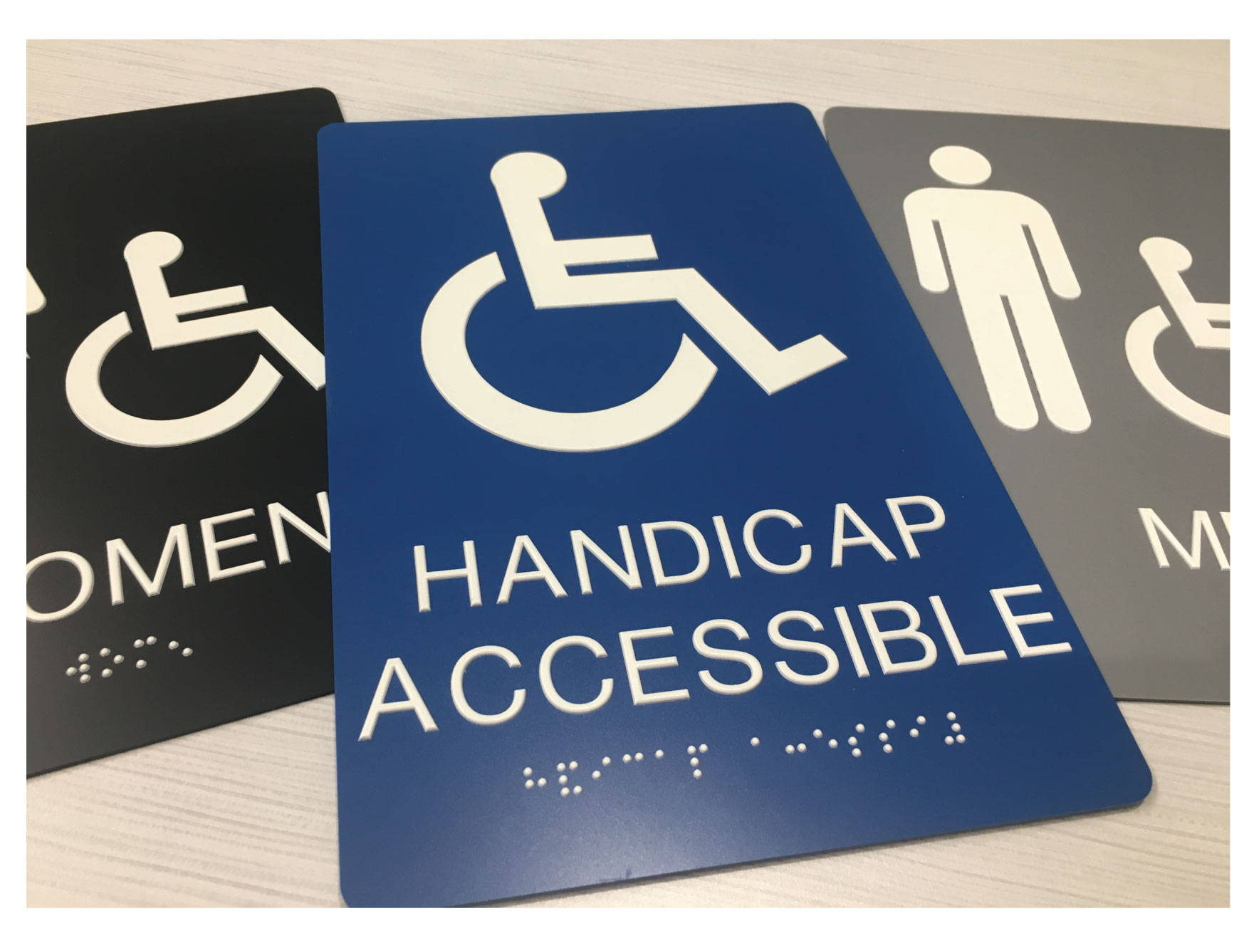 ADA Accessible Signs with Grade II Braille, Compliant ADA Signs