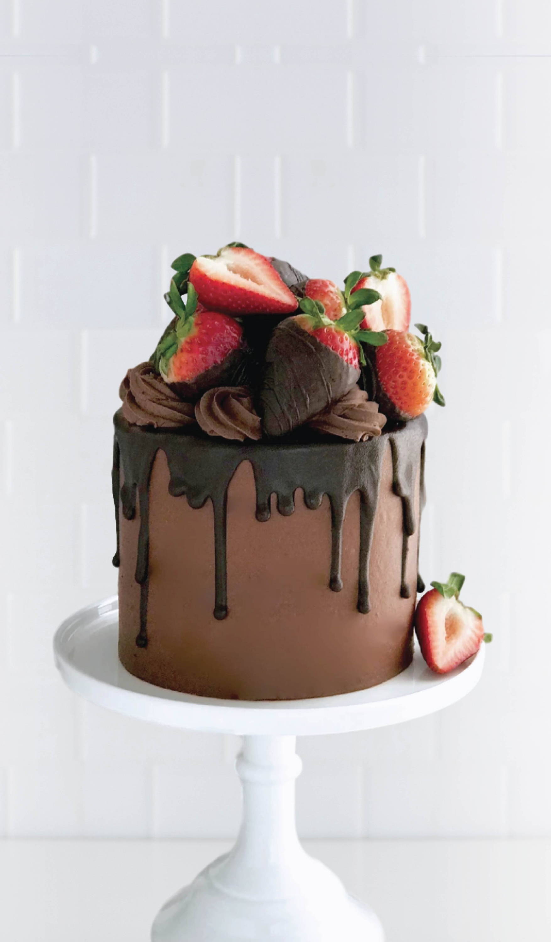 Chocolate covered strawberry cake , vegan available, anniversary cakes, gifts
