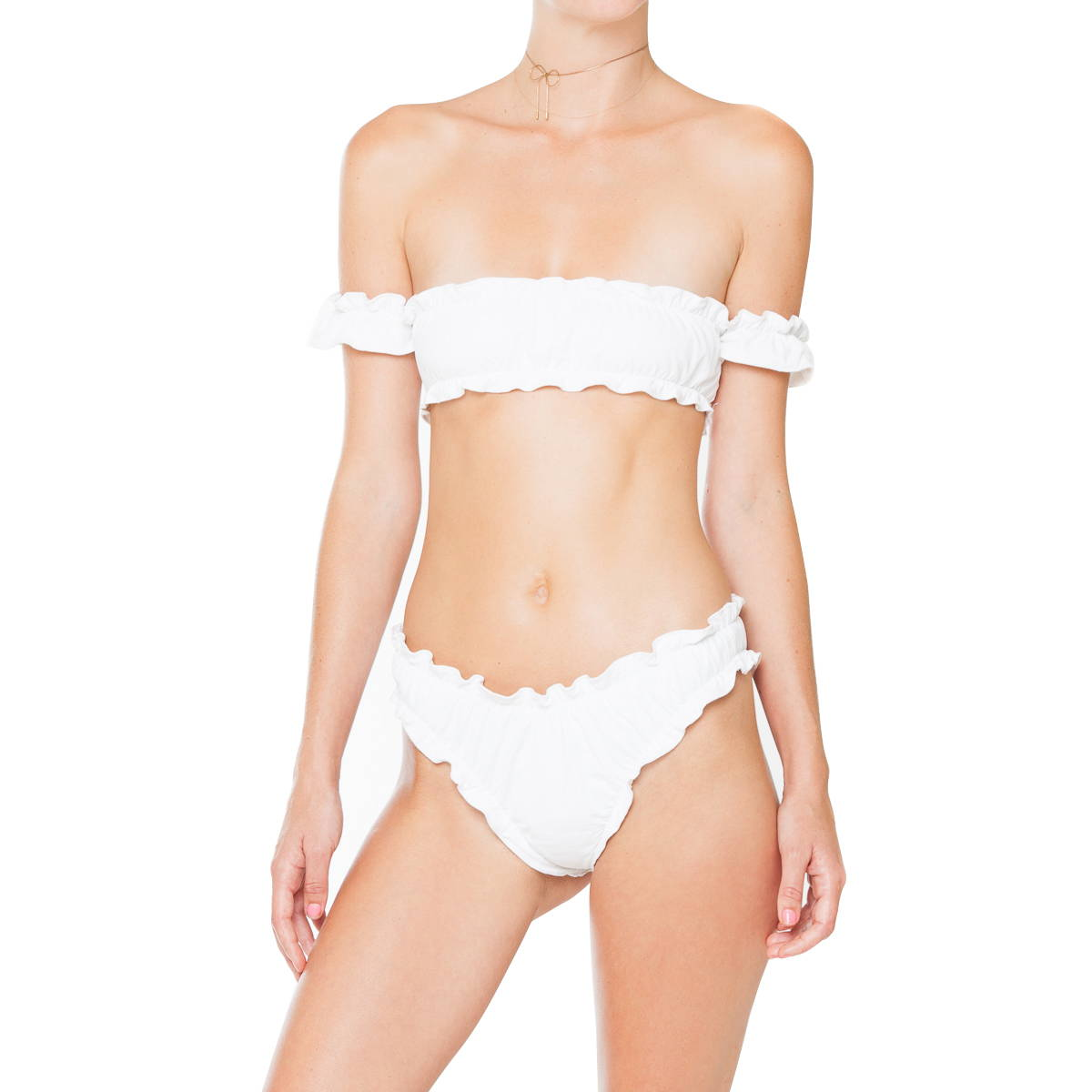 f3825788d6 So much sweetness. Tuille is a lettuce edged bandeau with dainty attached  sleeves.