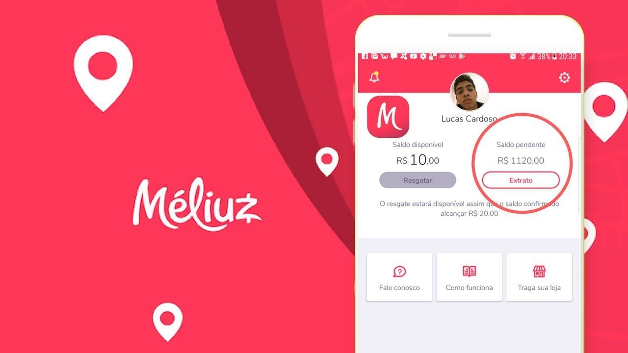 1% de cashback em compras online pelo app do Méliuz