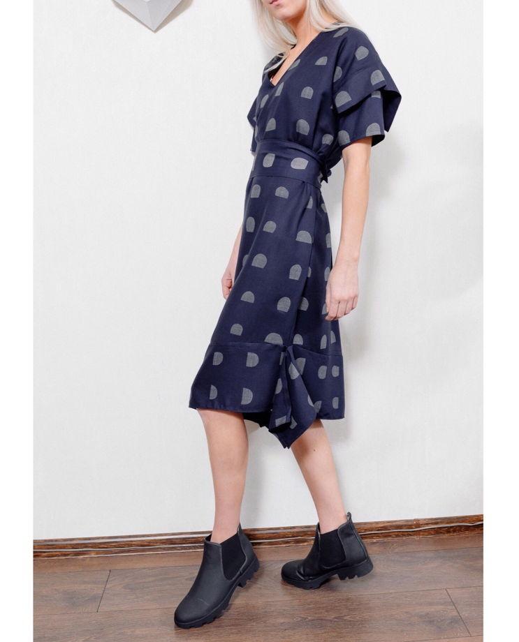 Асимметричное платье ВОСХОД