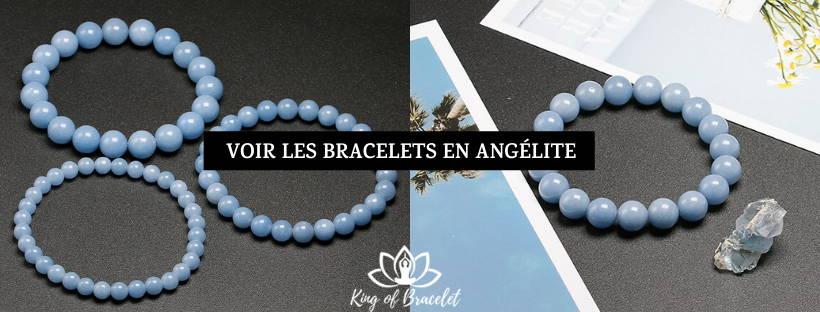 Bracelet en Pierre Angélite - King of Bracelet