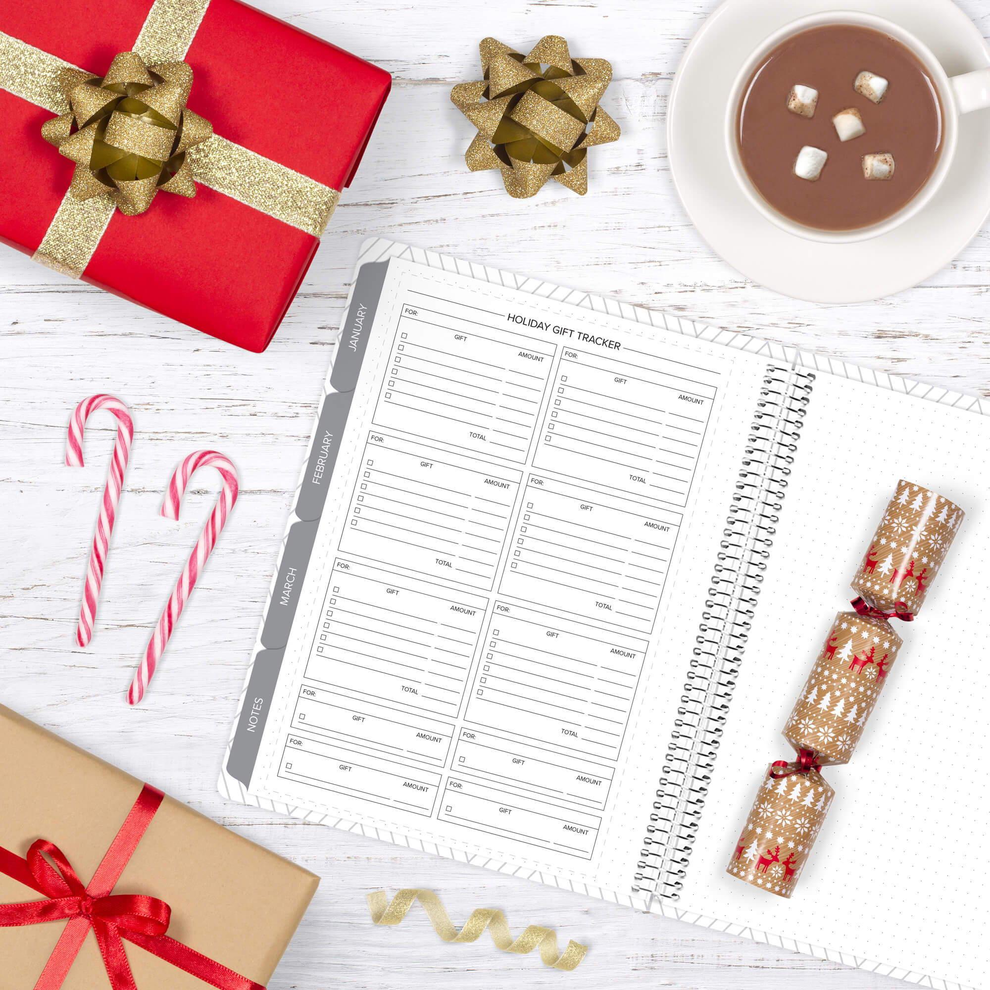 amplify planner holiday gift tracker insert