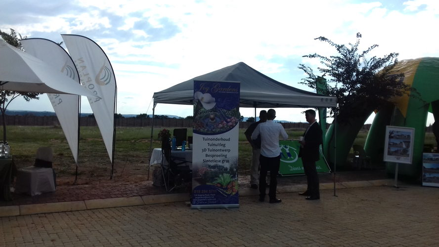 Potchefstroom - Various exhibitors at de Land Estate Information Day held on 7 March.