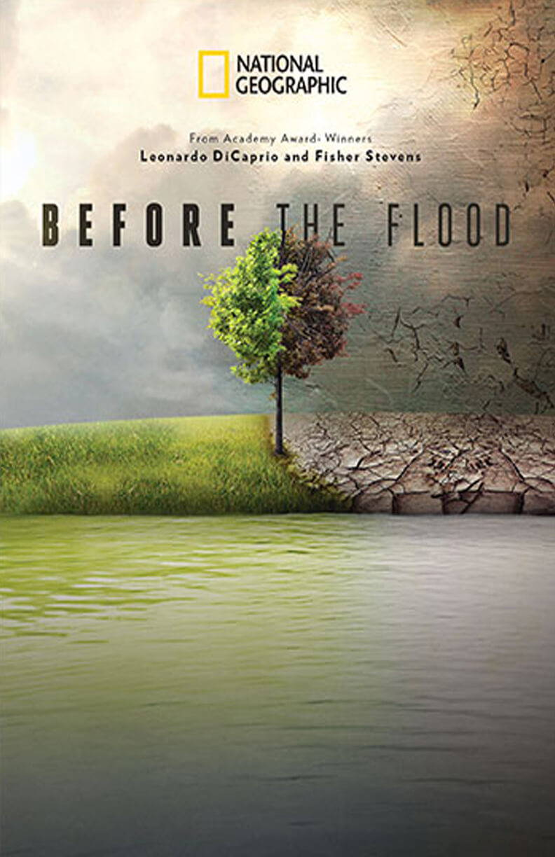 A poster of the environmental documentary, ' Before the Flood'