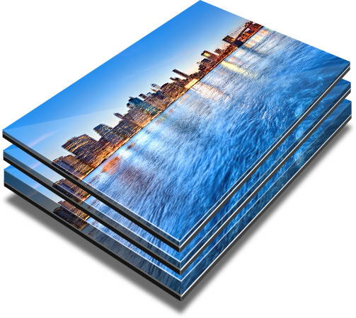 Acrylic prints thickness options