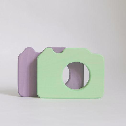 Деревянный Фотоаппарат для детей (цветной)