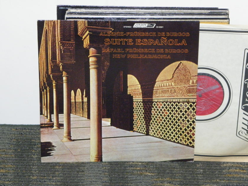 "Rafael Fruhbeck De Burgos/New Philharmonia - Albeniz ""Suite Espanola"" London CS 6581 UK Decca 2G/3G matrix"