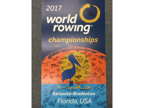 2017 World Rowing Championship Poster Signed by National Team