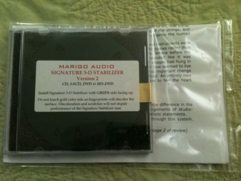 Marigo Audio Signature 3-D v2 Stabilizer Mat BRAND NEW IN PACKAGE