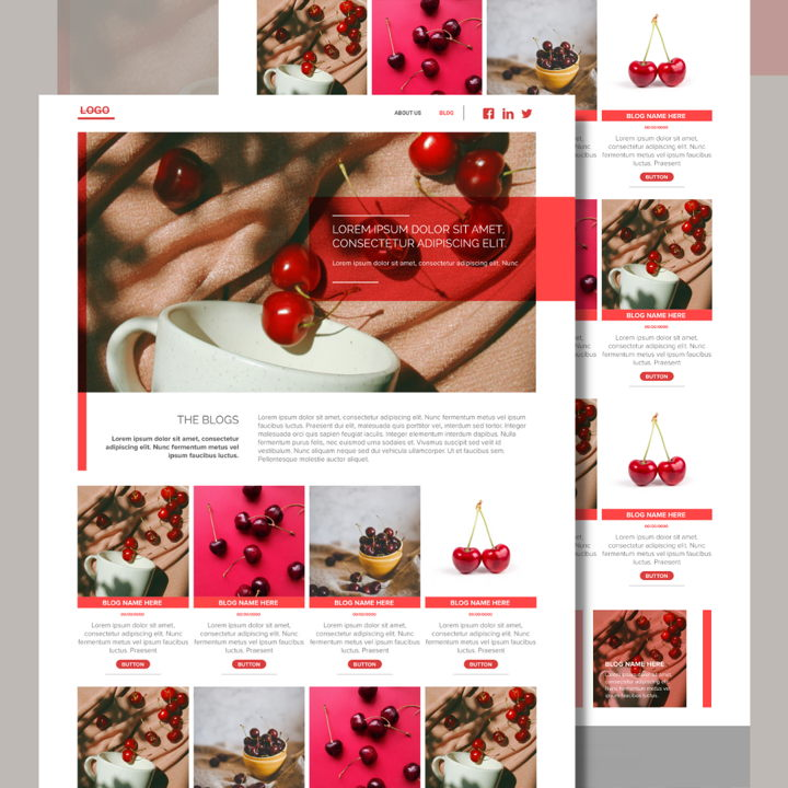 Cherry template's featured image