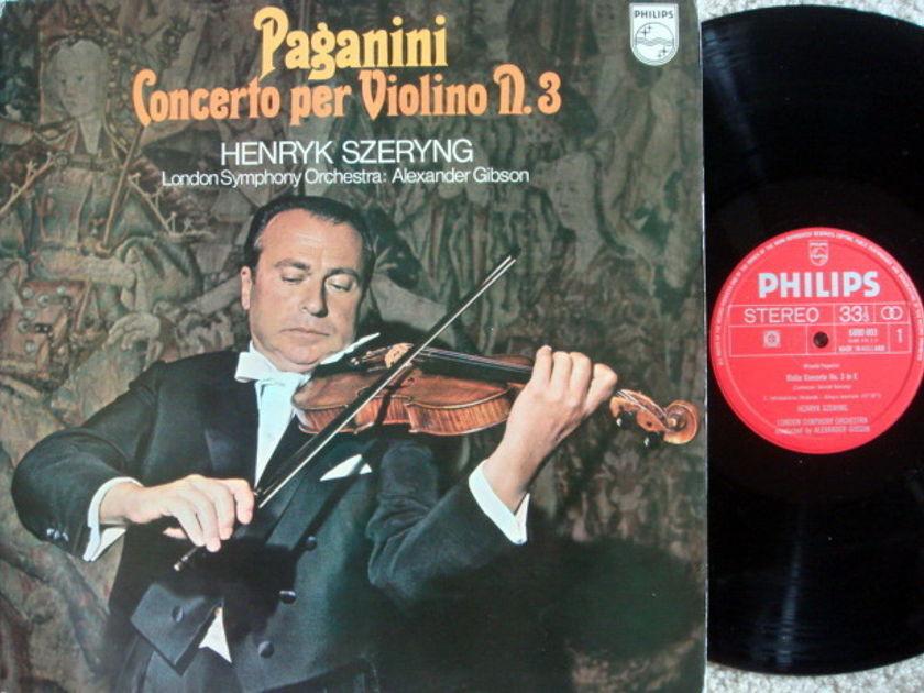 Philips / SZERYNG-GIBSON, - Paganini Violin Concertos No.3,  MINT!
