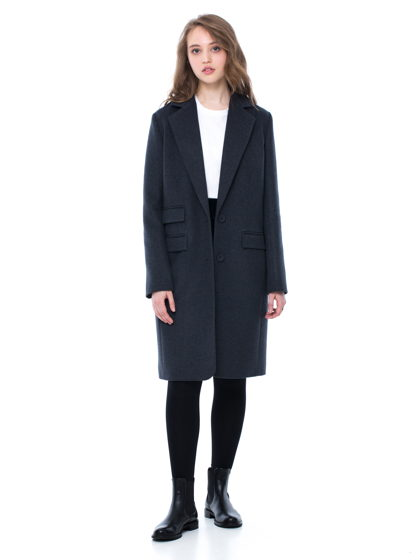 Классическое пальто темно-серого цвета