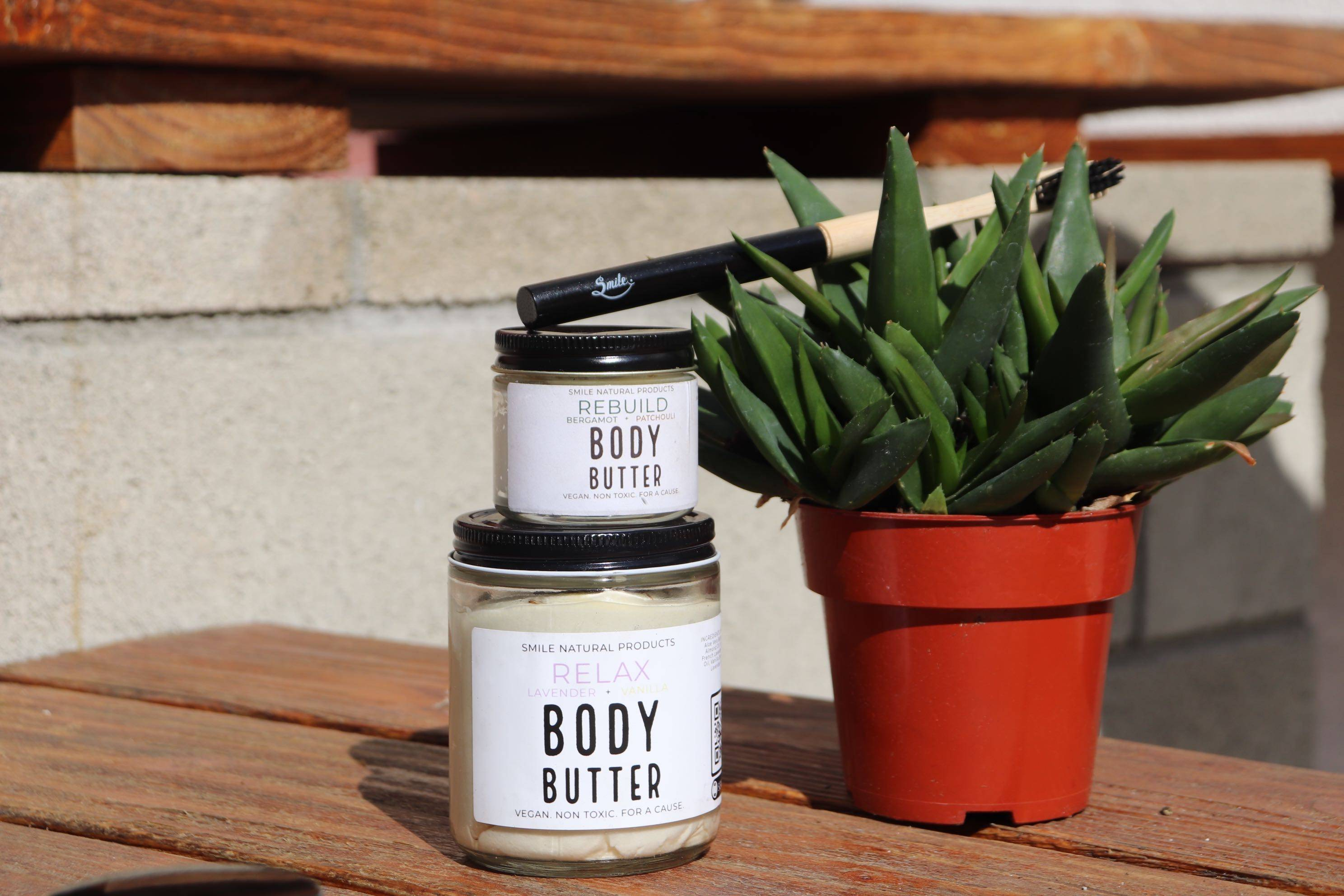 This natural body lotion is a Body Butter with a calming combination of lavender and vanilla scents in a velvety body butter that induces instant relaxation upon application or smell alone.