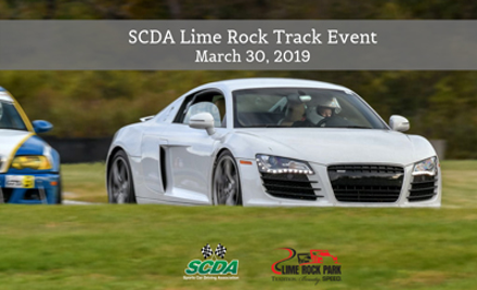 SCDA- Lime Rock Park- Track Event- March 30th