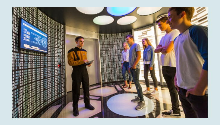 movie park germany star trek operation enterprise transporter room
