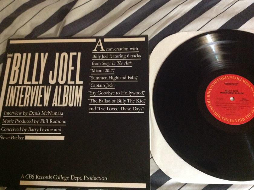 Billy Joel - Promo Interview Columbia Label. LP NM