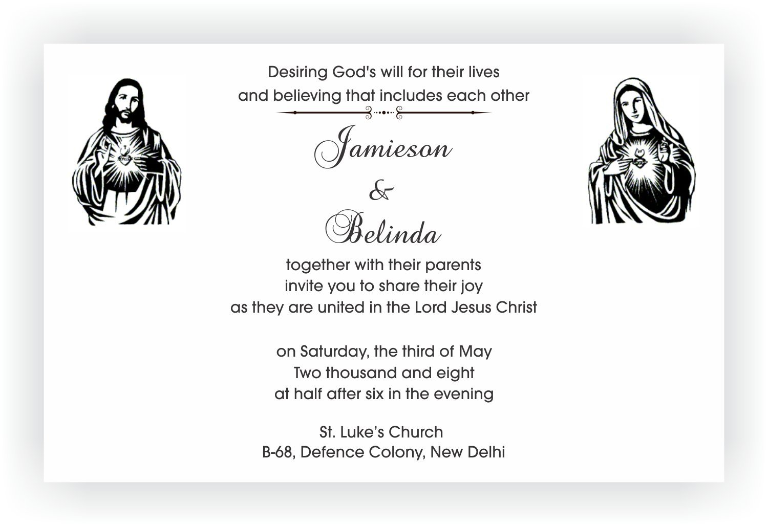 Christian Wording For Wedding Invitations