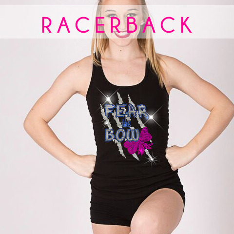 racerback tank glitterstarz bling basics custom teamwear