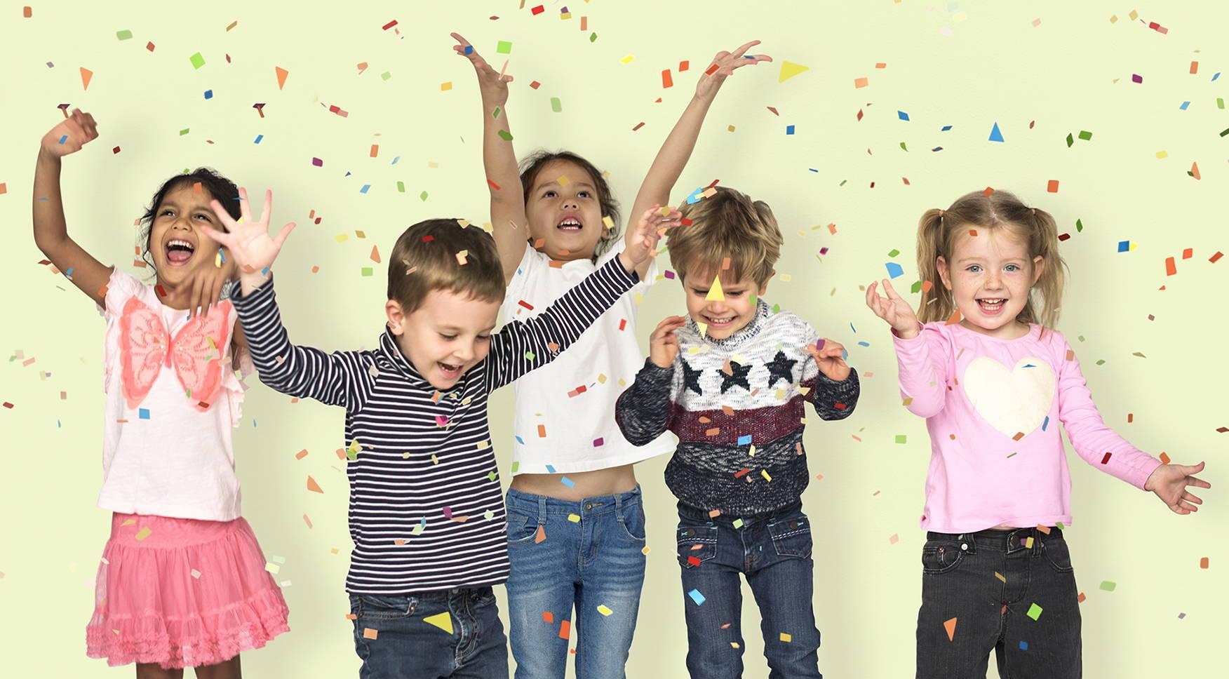 Happy Children Celebrating