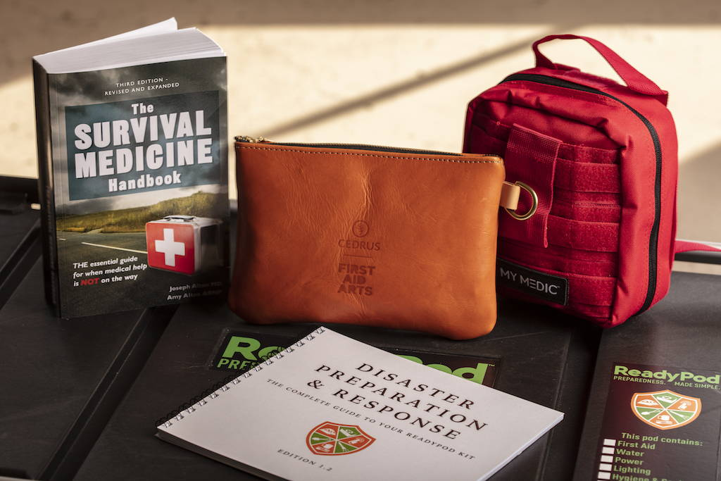 ReadyPod™ shelter-in-place kits contain survival medicine kits and instructions