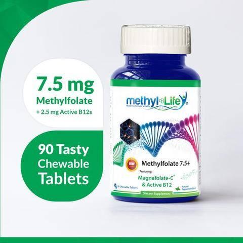 7.5 mg Methylfolate + 2.5 mg Active B12s
