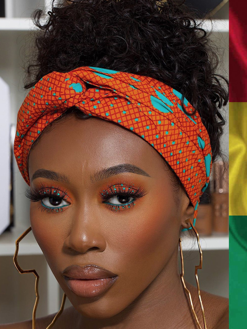 Vanessa makeup and Ghana colors
